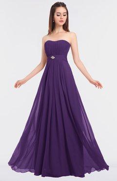 ColsBM Claire Dark Purple Elegant A-line Strapless Sleeveless Appliques Bridesmaid Dresses