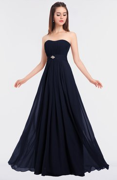 ColsBM Claire Dark Sapphire Elegant A-line Strapless Sleeveless Appliques Bridesmaid Dresses