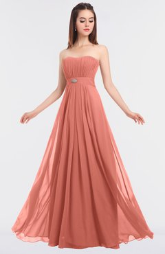 ColsBM Claire Desert Flower Elegant A-line Strapless Sleeveless Appliques Bridesmaid Dresses