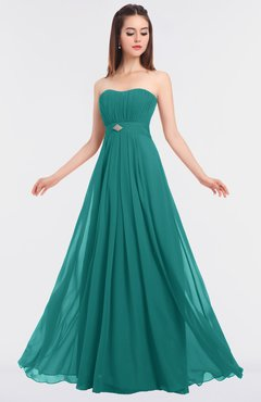 ColsBM Claire Emerald Green Elegant A-line Strapless Sleeveless Appliques Bridesmaid Dresses