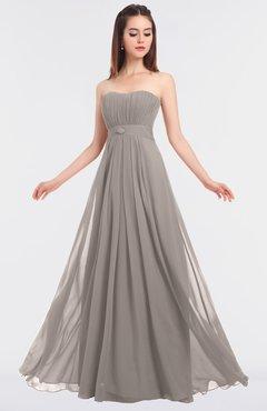 ColsBM Claire Fawn Elegant A-line Strapless Sleeveless Appliques Bridesmaid Dresses