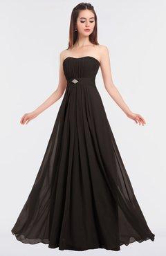 ColsBM Claire Fudge Brown Elegant A-line Strapless Sleeveless Appliques Bridesmaid Dresses