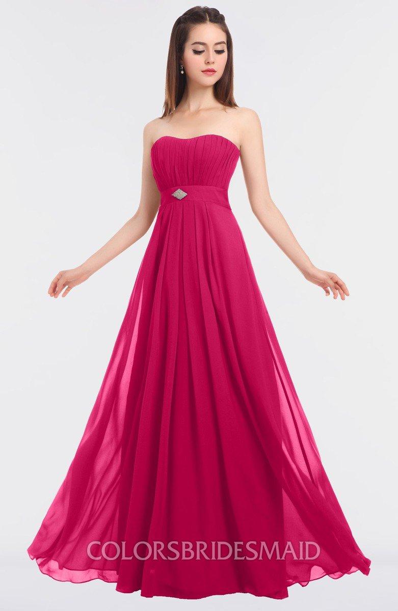 8ee72b8260f6 ColsBM Claire Fuschia Elegant A-line Strapless Sleeveless Appliques  Bridesmaid Dresses