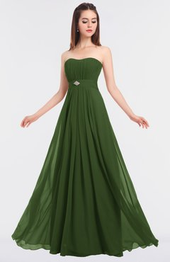 ColsBM Claire Garden Green Elegant A-line Strapless Sleeveless Appliques Bridesmaid Dresses