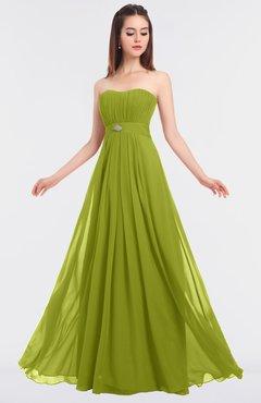 ColsBM Claire Green Oasis Elegant A-line Strapless Sleeveless Appliques Bridesmaid Dresses