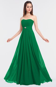 ColsBM Claire Green Elegant A-line Strapless Sleeveless Appliques Bridesmaid Dresses