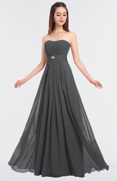 ColsBM Claire Grey Elegant A-line Strapless Sleeveless Appliques Bridesmaid Dresses