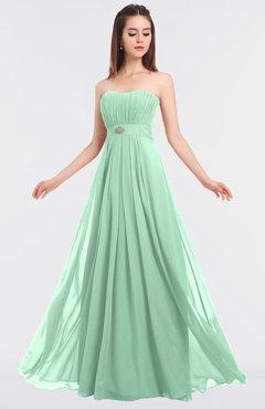 ColsBM Claire Honeydew Elegant A-line Strapless Sleeveless Appliques Bridesmaid Dresses