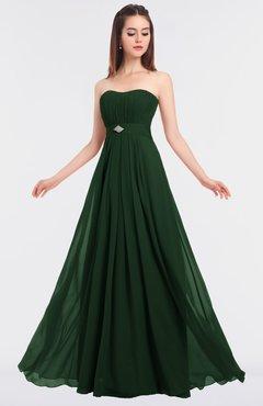 ColsBM Claire Hunter Green Elegant A-line Strapless Sleeveless Appliques Bridesmaid Dresses