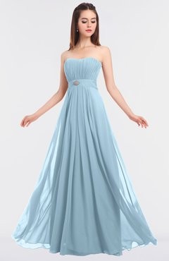 ColsBM Claire Ice Blue Elegant A-line Strapless Sleeveless Appliques Bridesmaid Dresses