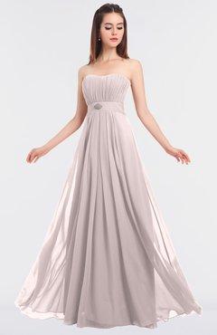 ColsBM Claire Light Pink Elegant A-line Strapless Sleeveless Appliques Bridesmaid Dresses