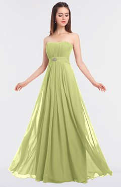 ColsBM Claire Lime Green Elegant A-line Strapless Sleeveless Appliques Bridesmaid Dresses