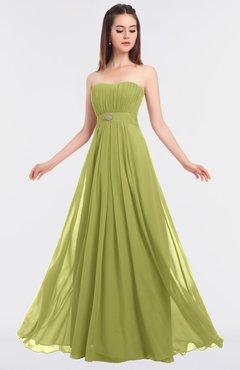 ColsBM Claire Linden Green Elegant A-line Strapless Sleeveless Appliques Bridesmaid Dresses
