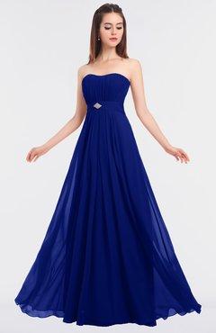 ColsBM Claire Nautical Blue Elegant A-line Strapless Sleeveless Appliques Bridesmaid Dresses