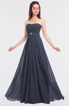 ColsBM Claire Nightshadow Blue Elegant A-line Strapless Sleeveless Appliques Bridesmaid Dresses