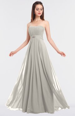 ColsBM Claire Off White Elegant A-line Strapless Sleeveless Appliques Bridesmaid Dresses