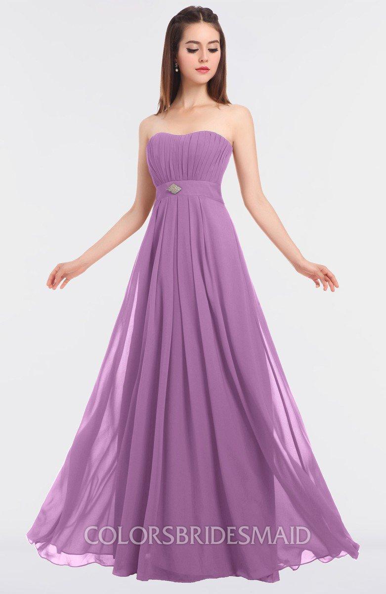6b212cc6c435 ColsBM Claire Orchid Elegant A-line Strapless Sleeveless Appliques  Bridesmaid Dresses