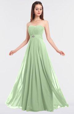 ColsBM Claire Pale Green Elegant A-line Strapless Sleeveless Appliques Bridesmaid Dresses