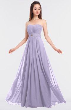 ColsBM Claire Pastel Lilac Elegant A-line Strapless Sleeveless Appliques Bridesmaid Dresses