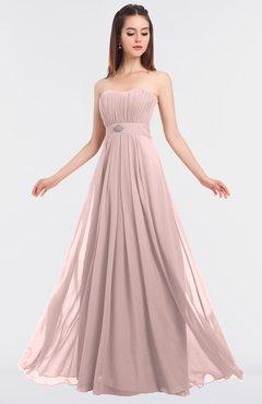 ColsBM Claire Pastel Pink Elegant A-line Strapless Sleeveless Appliques Bridesmaid Dresses