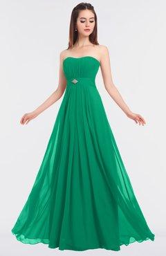 ColsBM Claire Pepper Green Elegant A-line Strapless Sleeveless Appliques Bridesmaid Dresses