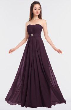 ColsBM Claire Plum Elegant A-line Strapless Sleeveless Appliques Bridesmaid Dresses