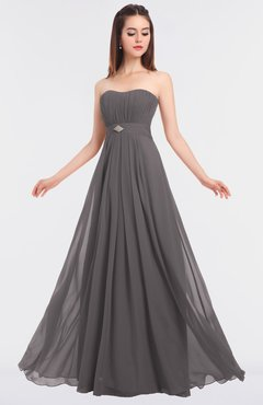 ColsBM Claire Ridge Grey Elegant A-line Strapless Sleeveless Appliques Bridesmaid Dresses