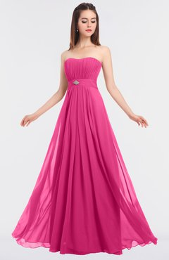 ColsBM Claire Rose Pink Elegant A-line Strapless Sleeveless Appliques Bridesmaid Dresses