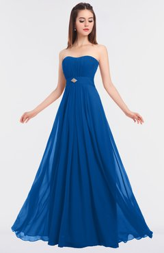 ColsBM Claire Royal Blue Elegant A-line Strapless Sleeveless Appliques Bridesmaid Dresses