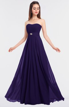 ColsBM Claire Royal Purple Elegant A-line Strapless Sleeveless Appliques Bridesmaid Dresses