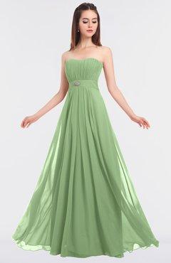 ColsBM Claire Sage Green Elegant A-line Strapless Sleeveless Appliques Bridesmaid Dresses