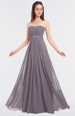 ColsBM Claire Sea Fog Elegant A-line Strapless Sleeveless Appliques Bridesmaid Dresses