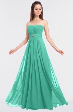 ColsBM Claire Seafoam Green Elegant A-line Strapless Sleeveless Appliques Bridesmaid Dresses