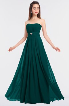 ColsBM Claire Shaded Spruce Elegant A-line Strapless Sleeveless Appliques Bridesmaid Dresses