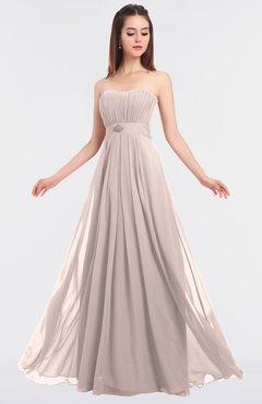 ColsBM Claire Silver Peony Elegant A-line Strapless Sleeveless Appliques Bridesmaid Dresses