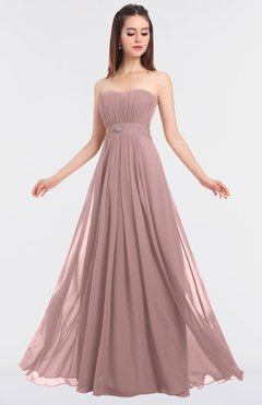 ColsBM Claire Silver Pink Elegant A-line Strapless Sleeveless Appliques Bridesmaid Dresses
