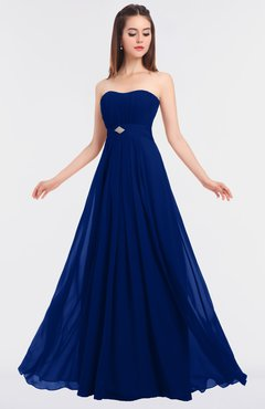 ColsBM Claire Sodalite Blue Elegant A-line Strapless Sleeveless Appliques Bridesmaid Dresses