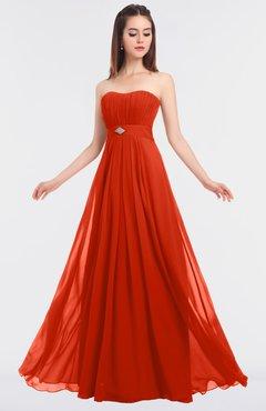 ColsBM Claire Tangerine Tango Elegant A-line Strapless Sleeveless Appliques Bridesmaid Dresses