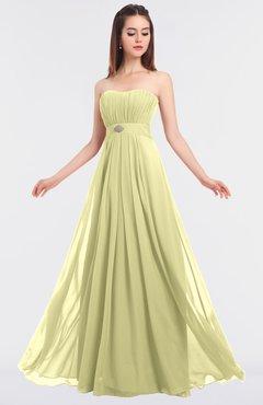 ColsBM Claire Wax Yellow Elegant A-line Strapless Sleeveless Appliques Bridesmaid Dresses
