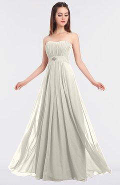 ColsBM Claire Whisper White Elegant A-line Strapless Sleeveless Appliques Bridesmaid Dresses