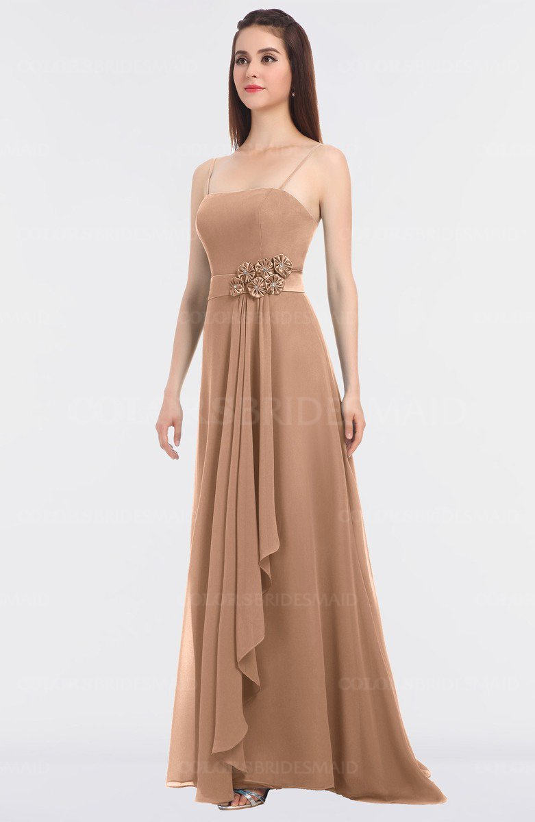 467fd940d9b5 ColsBM Caitlin Almost Apricot Modern A-line Spaghetti Sleeveless Appliques  Bridesmaid Dresses