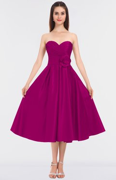 Colsbm Kallie Hot Pink Gorgeous A Line Strapless Sleeveless Flower Bridesmaid Dresses