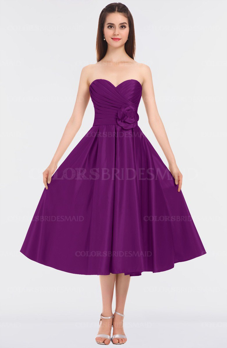 74c7e73c9 ColsBM Kallie Persian Plum Gorgeous A-line Strapless Sleeveless Flower  Bridesmaid Dresses