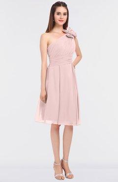 679b6fb5365c ColsBM Dalary Pastel Pink Classic A-line Asymmetric Neckline Sleeveless  Criss-cross Straps Knee