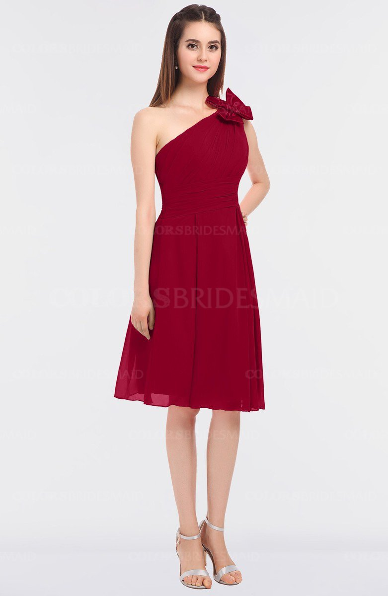 Scooter classic a line asymmetric neckline sleeveless criss cross classic a line asymmetric neckline sleeveless criss cross straps knee length bridesmaid dresses ombrellifo Image collections