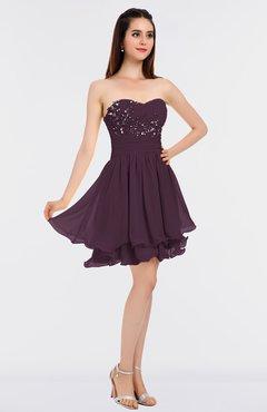 Plum Short Dresses