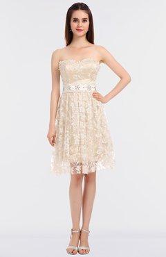 ae79878f1a9 ColsBM Alani Cream Glamorous A-line Strapless Sleeveless Zip up Knee Length Bridesmaid  Dresses