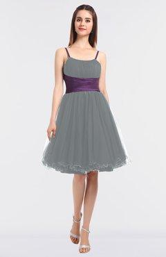 96f89e3f0e92 ColsBM Aryana Frost Grey Elegant Ball Gown Sleeveless Zip up Knee Length  Ruching Bridesmaid Dresses