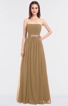a0e718ca3358 ColsBM Lexi Indian Tan Elegant Bateau Sleeveless Zip up Floor Length  Appliques Bridesmaid Dresses