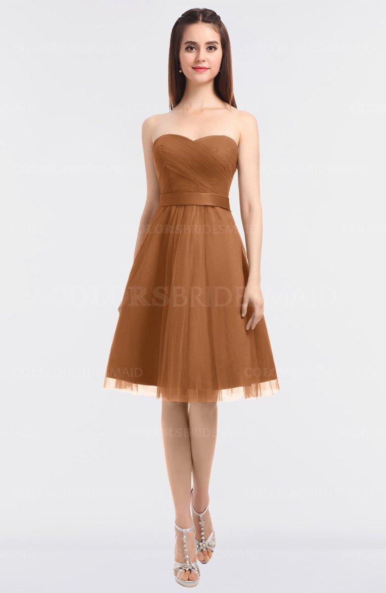 523ef0c90e3 ColsBM Olivia Amber Princess A-line Strapless Knee Length Bow Bridesmaid  Dresses